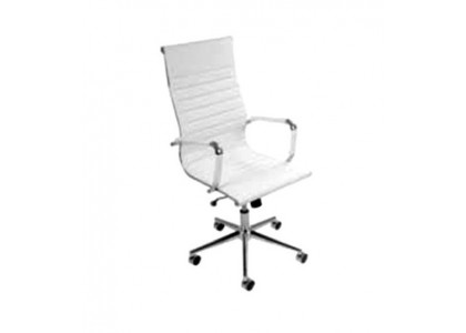 High-Back Modern Chair-white
