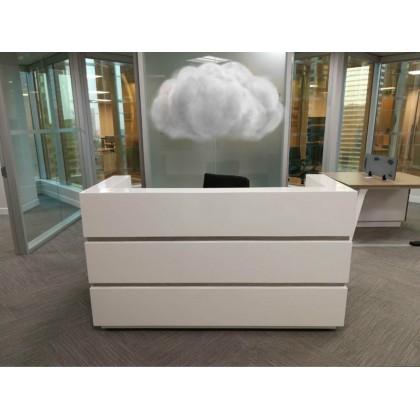 High Gloss Reception Desk