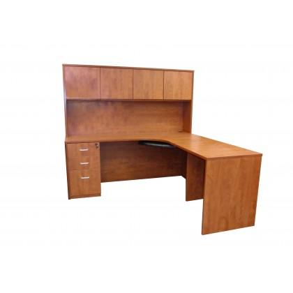 Wood Door L-Shape Performance Workstation (Left-hand Side)