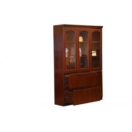 3-Door Wood Veneer Bookcase