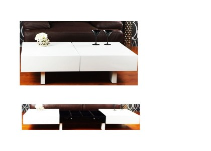 High Gloss Rectangular Coffee Table
