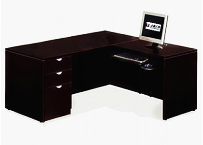 "Espresso Small L-Shape Computer Desk (55""W)"