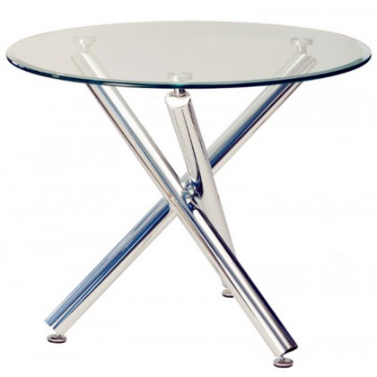 Classic Glass Round Table