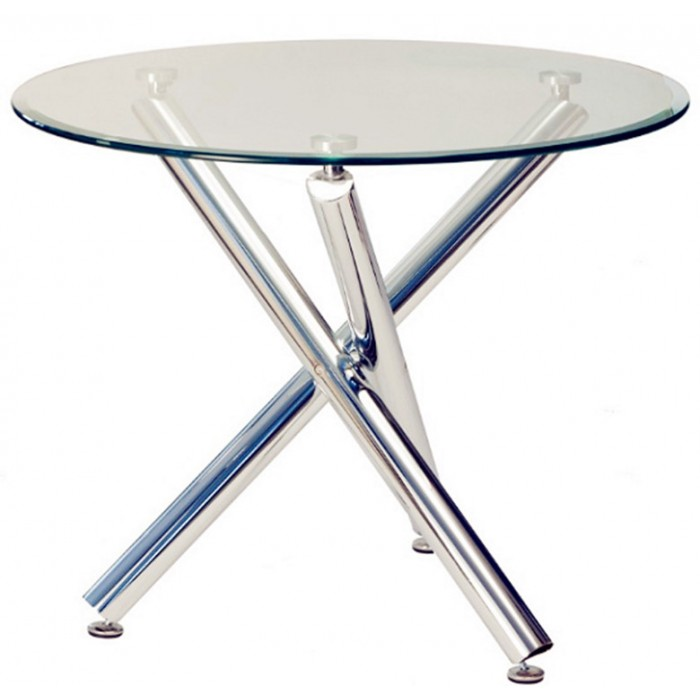 Classic Glass Round Table - Round glass conference table