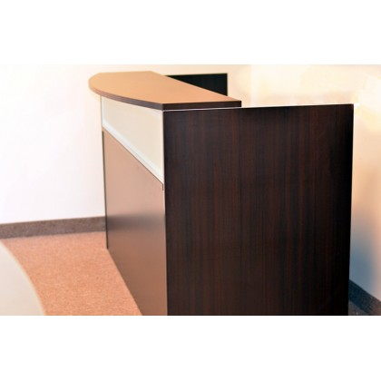Reception Front Desk (Glass Panel)