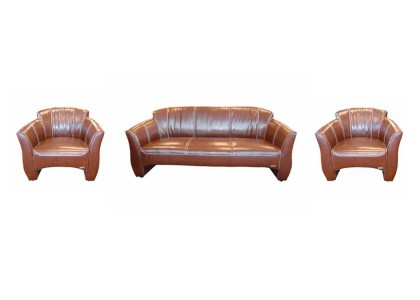Real Leather Sofa Set