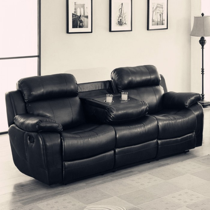 black leather reclining sofa. Black Leather Reclining Sofa A
