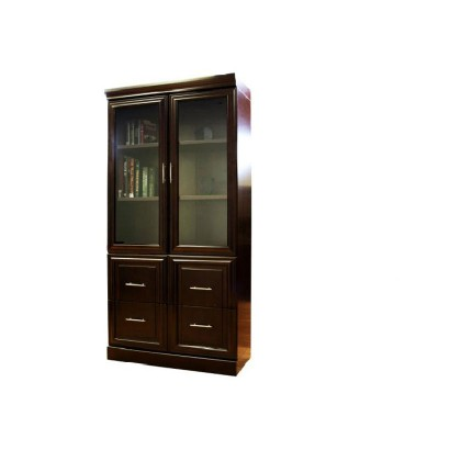 Two Door Bookcase with Lateral Filing Drawer
