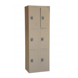 6-Door Locker (Three Tiers)