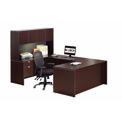 "60""W Espresso U-shape Workstation (Left-hand Side)"