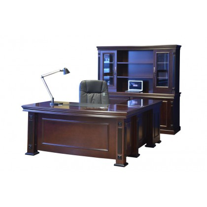 "71""W Veneer Executive Desk"