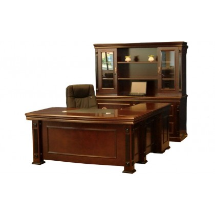 "66""W Veneer Executive Desk"