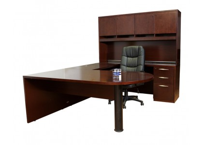 AB Veneer U-Shape Executive Workstation