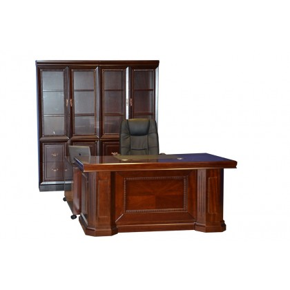 "63""W Veneer Desk with Mobile Return"