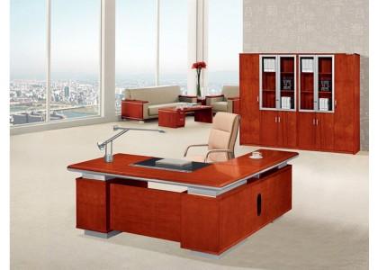 Veneer Executive Desk with Storage