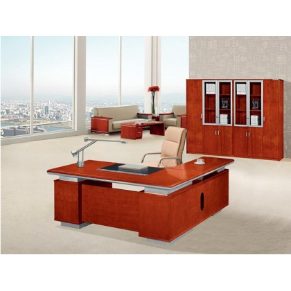 Veneer Executive Desk with Storage