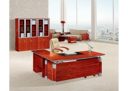 L-Shape Veneer Executive Desk
