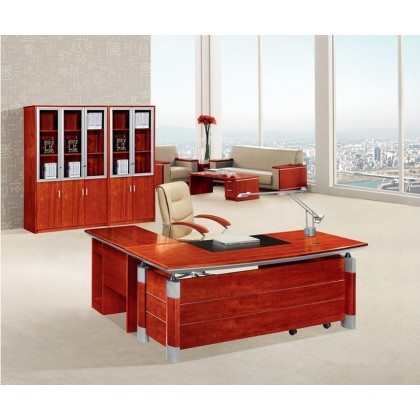 L-Shape Veneer Executive Desk