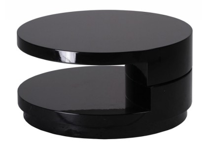 High Gloss Round Coffee Table (Black)