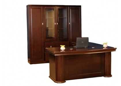 """63""""W Bow Front Executive Suite"""