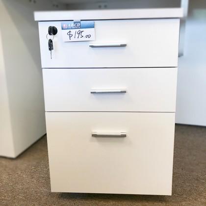 White Color Pedestal (Box/Box/File)